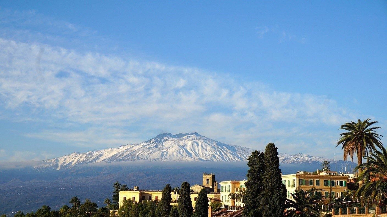 Espectacular vista del volcán Etna
