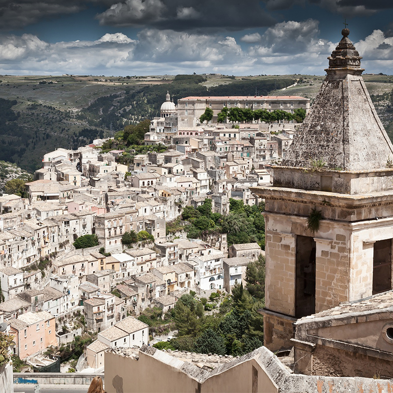 Wide angle view of Ragusa